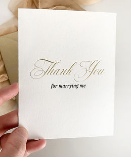 Thank You For Marrying Me Letterpress Wedding Card