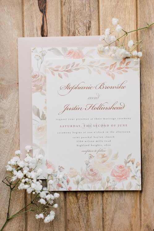 We Love How The Earthy Tone Colors Of This Wedding Invitation Suite Pairs With Fl Watercolor Elements It Creates Perfect Balance A Rustic