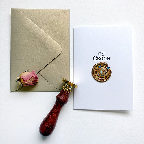 My Groom Wax Seal Card