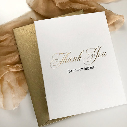 Thank You For Marrying Me Card