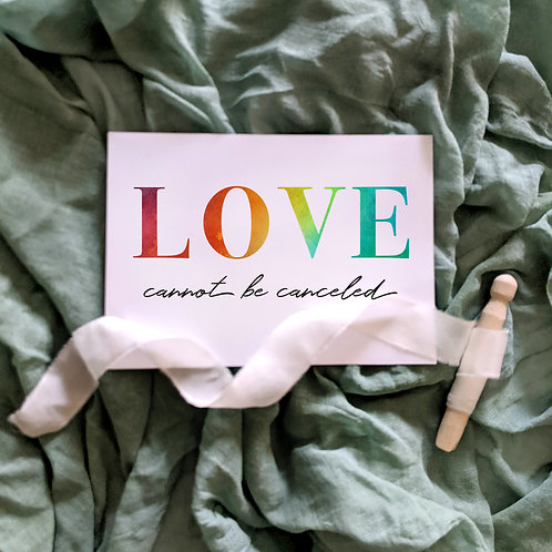 Love Cannot Be Canceled Elopement Wedding Sign, COVID Wedding