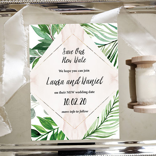 Tropical Leaf Change the Date Template