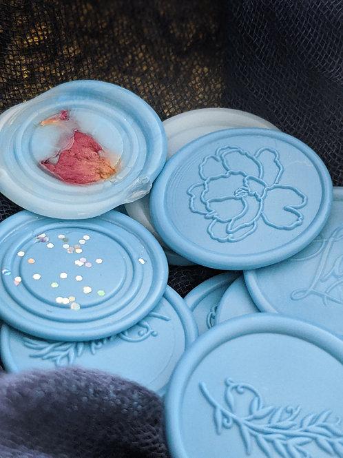 (6) Sky Blue Wax Seals