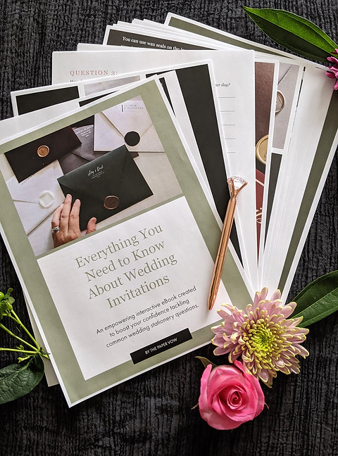 Everything You Need to Know About Wedding Invitations - eBook