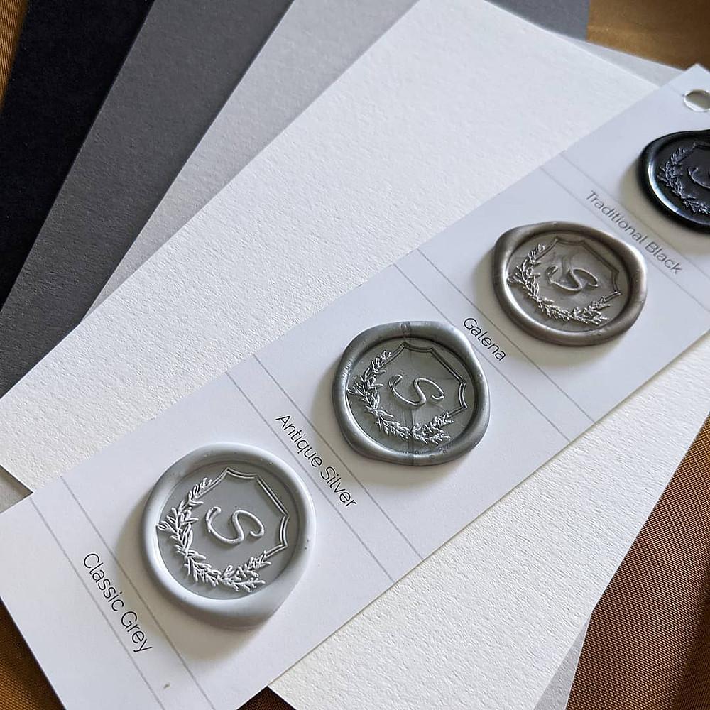 wedding paper with custom wax seals