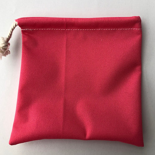 Pochette à savon rose orangé
