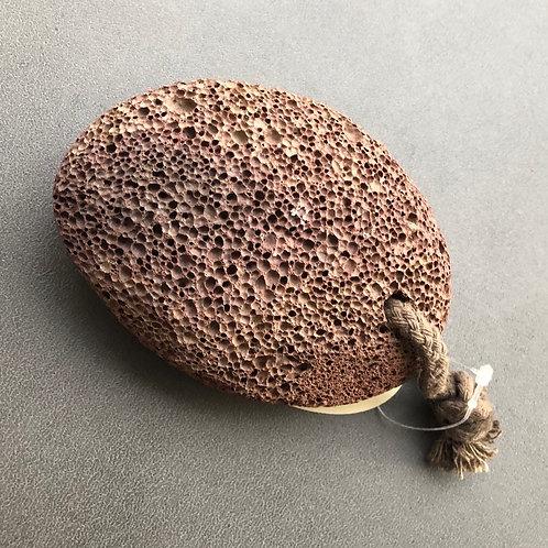 Pierre ponce volcanique brune