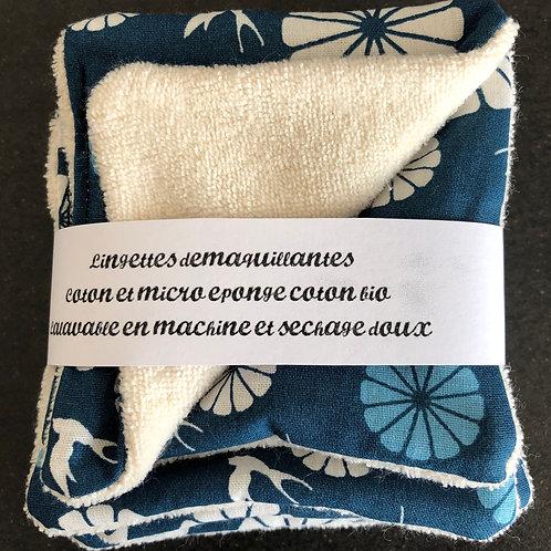 """Lingettes démaquillantes """"bleue"""""""
