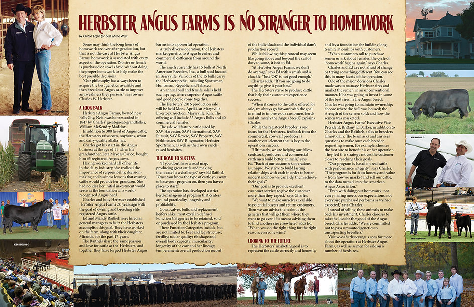 Herbster Angus Farms Is No Stranger to Homework