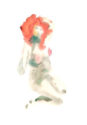 Female 5 watercolour
