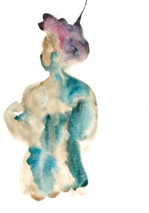 Female 4 watercolour