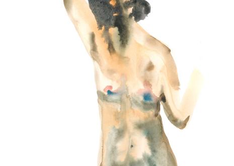 Female 15 watercolour