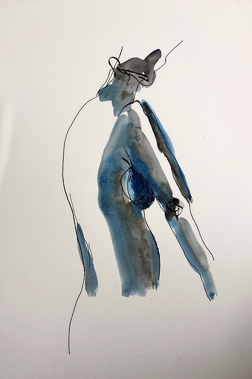 FEMALE Blue Limited Edition ART Print A4