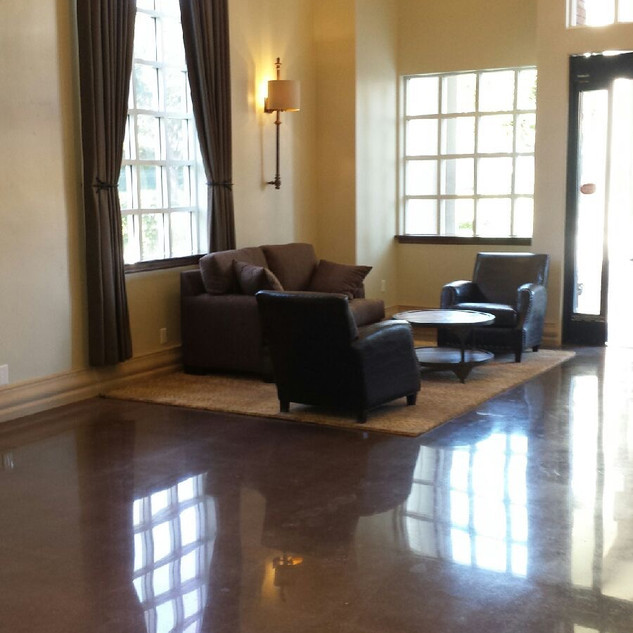 Stained Concrete 800 Resin Polishing Finish