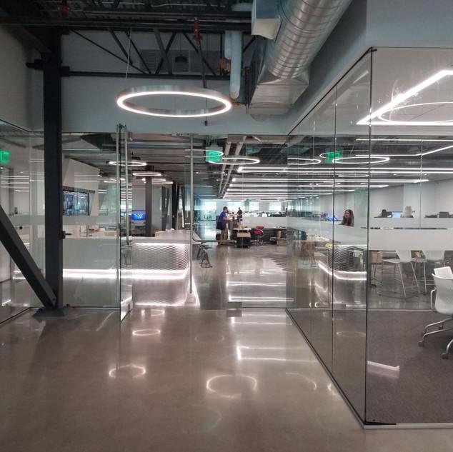 Polish Concrete Modern Office Flooring