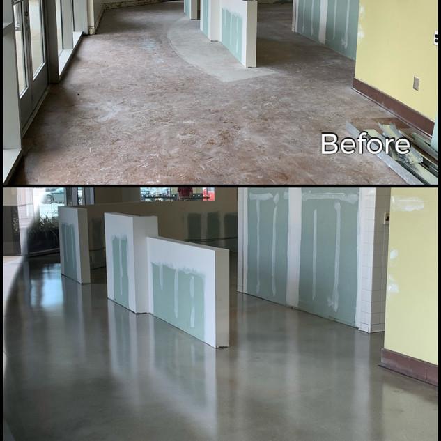 Coffee Shop Flooring Grind & Seal