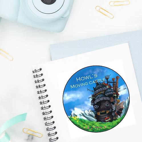 Howl's Moving Castle License Disk sticker