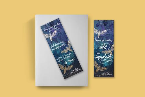 Strange the Dreamer bookmark collection