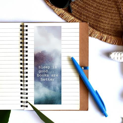 Sleep is good books are better