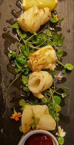 pan fried Squid