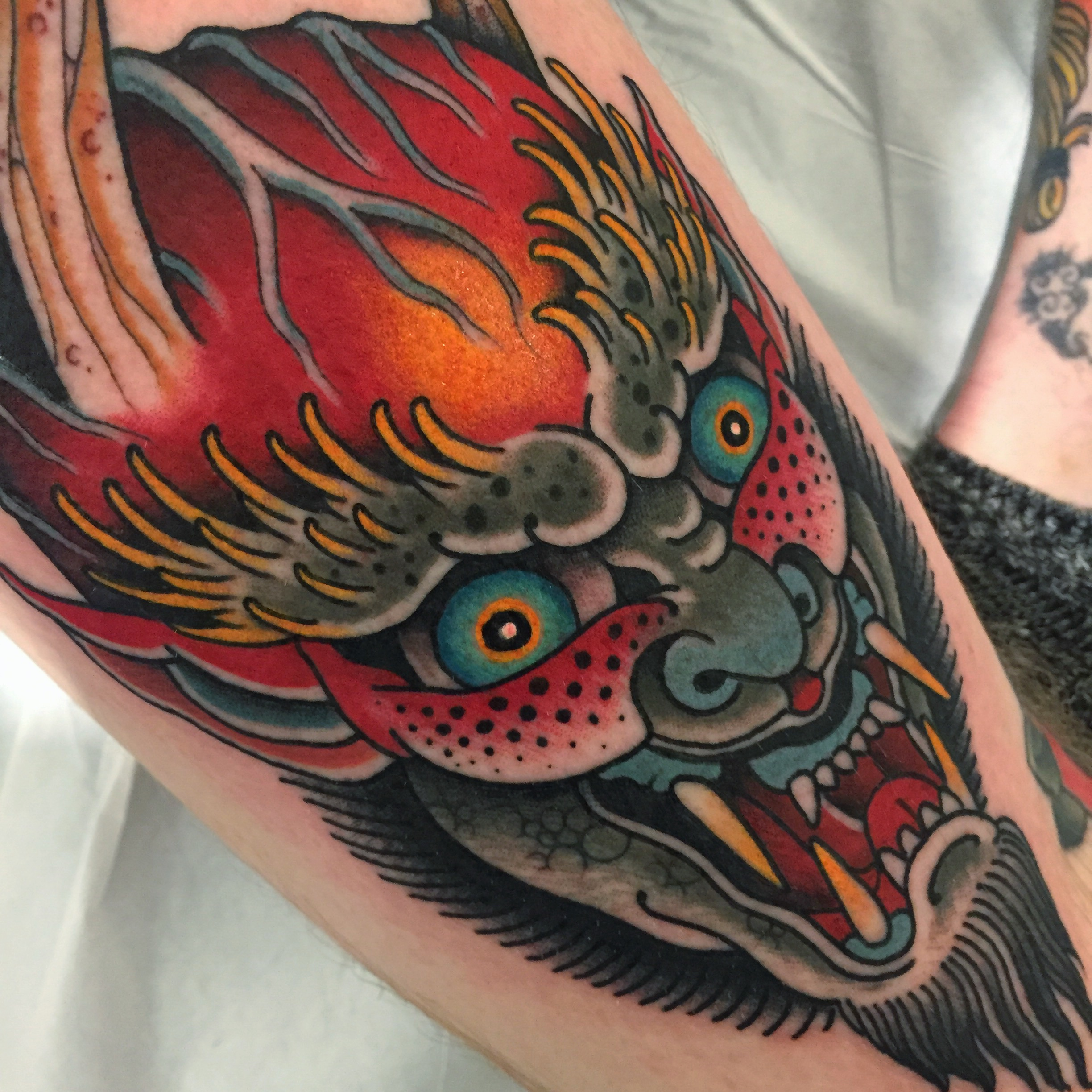 Hannya Demon Head Tattoo