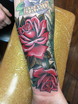 Roses Tattoo by Chris Astrologo