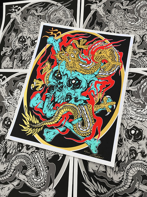 "Shaun Topper's ""Golden Dragon"" Hand Screened Prints"