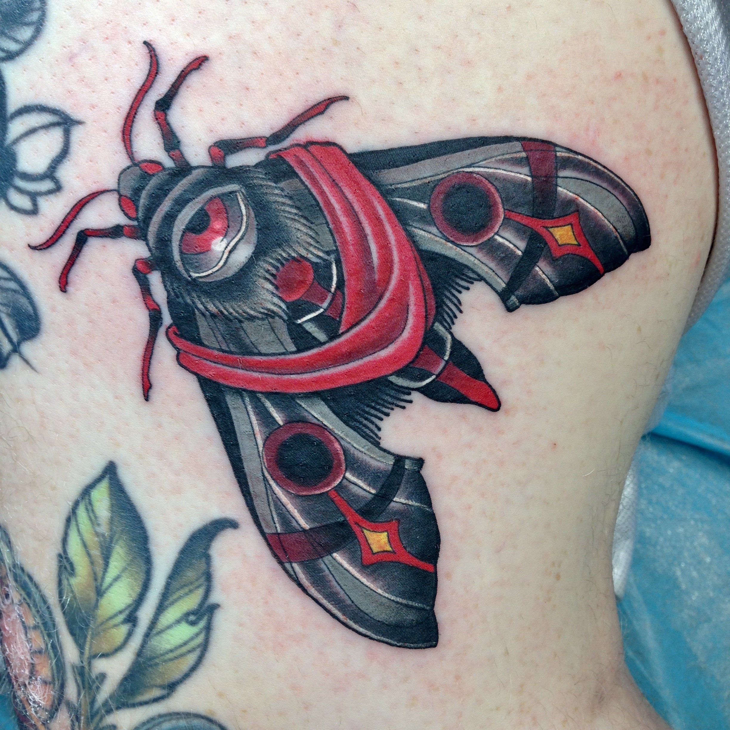 Moth Tattoo by Chris Astrologo