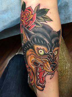 Wolf Tattoo by Chris Astrologo