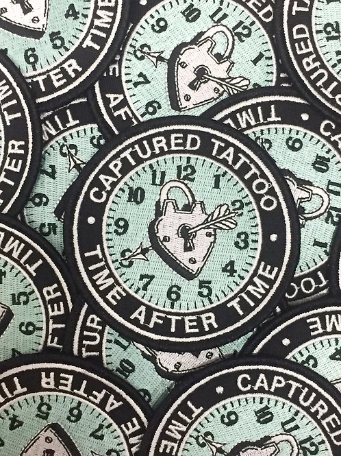 "4"" Embroidered Patch ""Time After Time"""