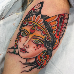 Butterfly Girl Head