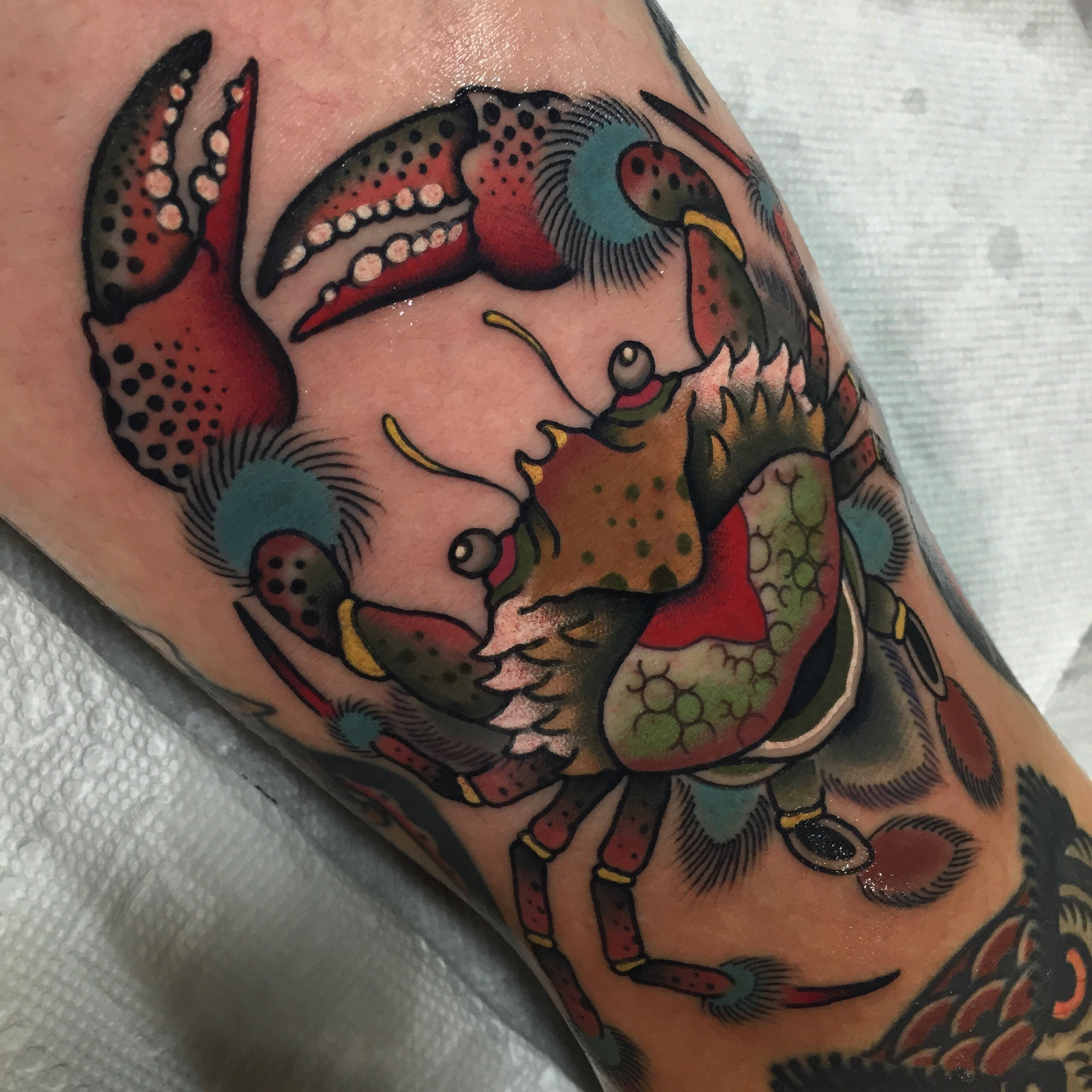 Color Crab tattoo