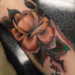 Rose Tattoo by Chris Astrologo