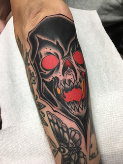 Reaper Tattoo by Chris Astrologo