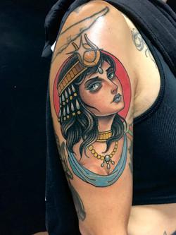 Cleopatra Tattoo by Chris Astrologo