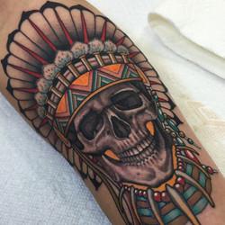 Skull & Chief's Headdress Tattoo