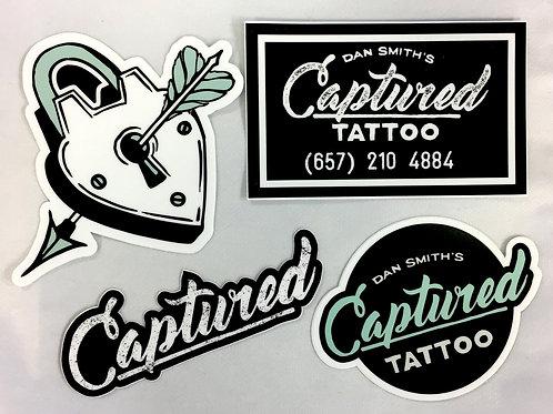 Captured Tattoo Sticker Pack