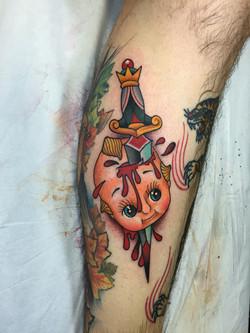 Kewpie and Dagger Tattoo