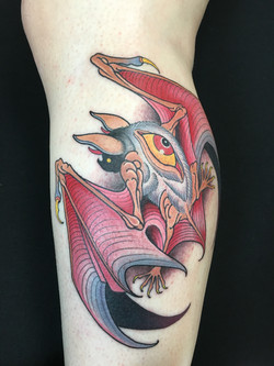 Bat Tattoo by Chris Astrologo