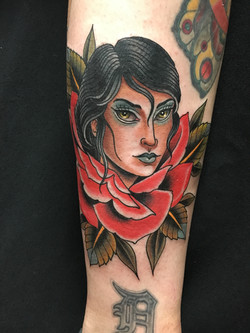 Girl and Rose by Chris Astrologo