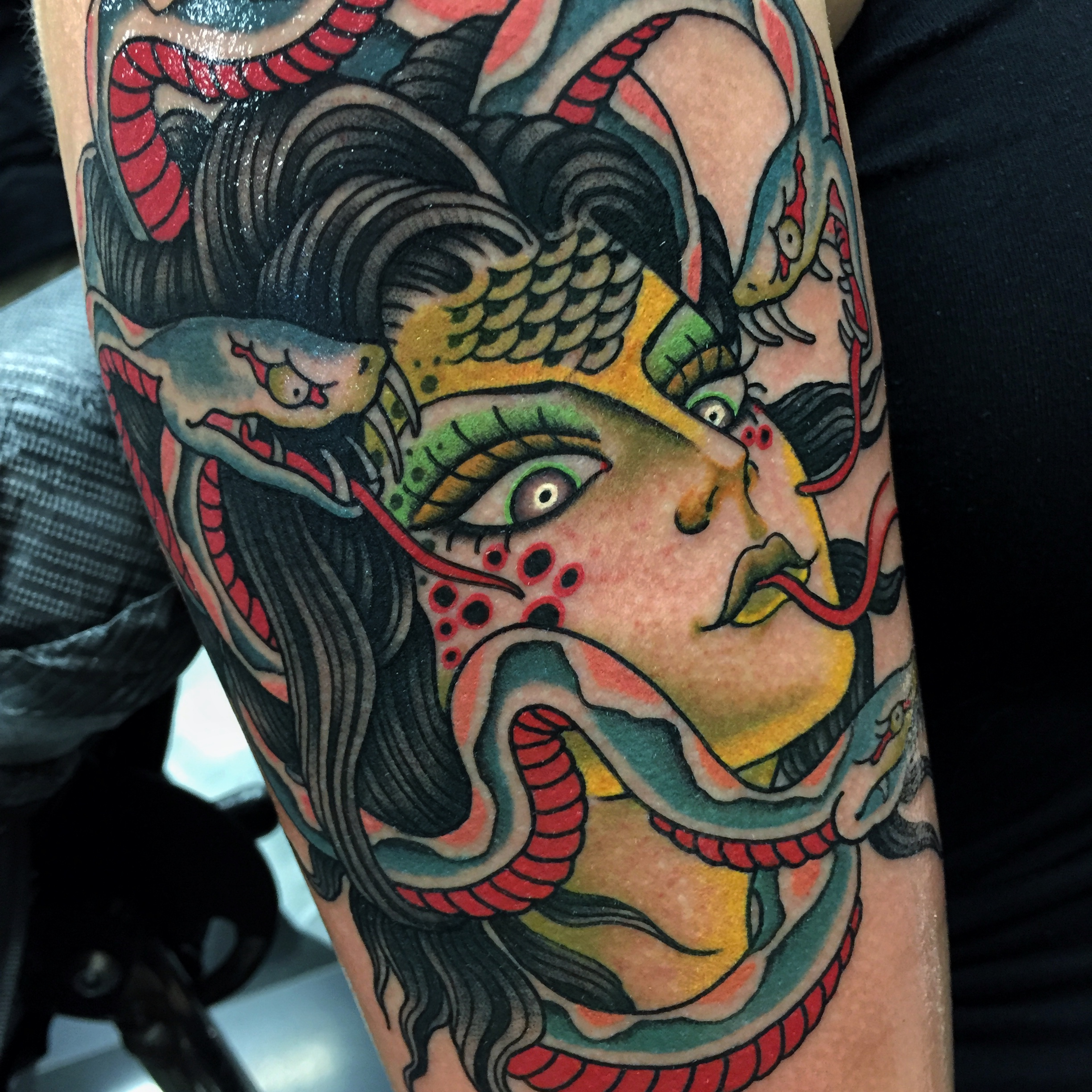 Medusa Girl Head Tattoo