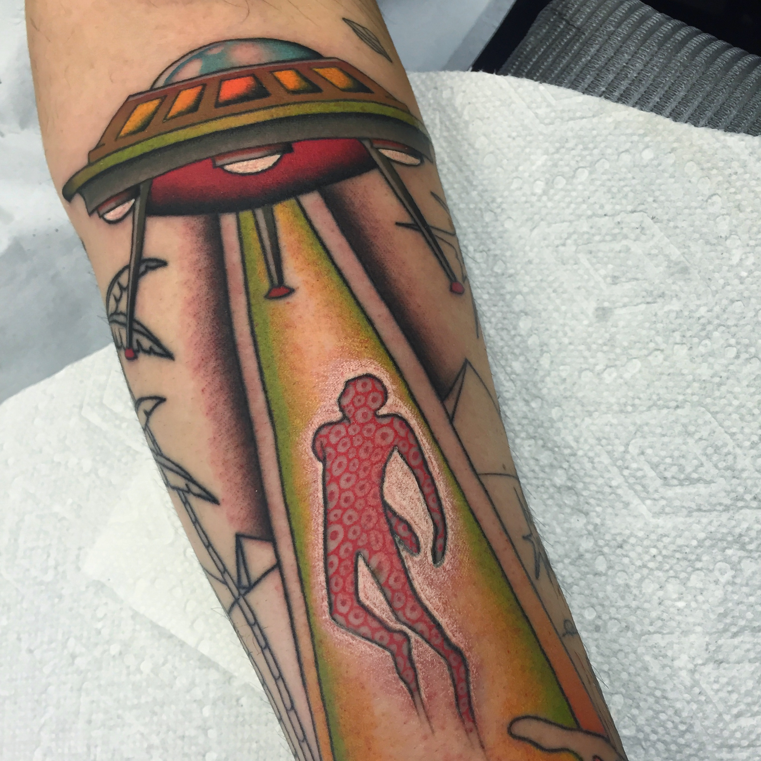 UFO Abduction Tattoo