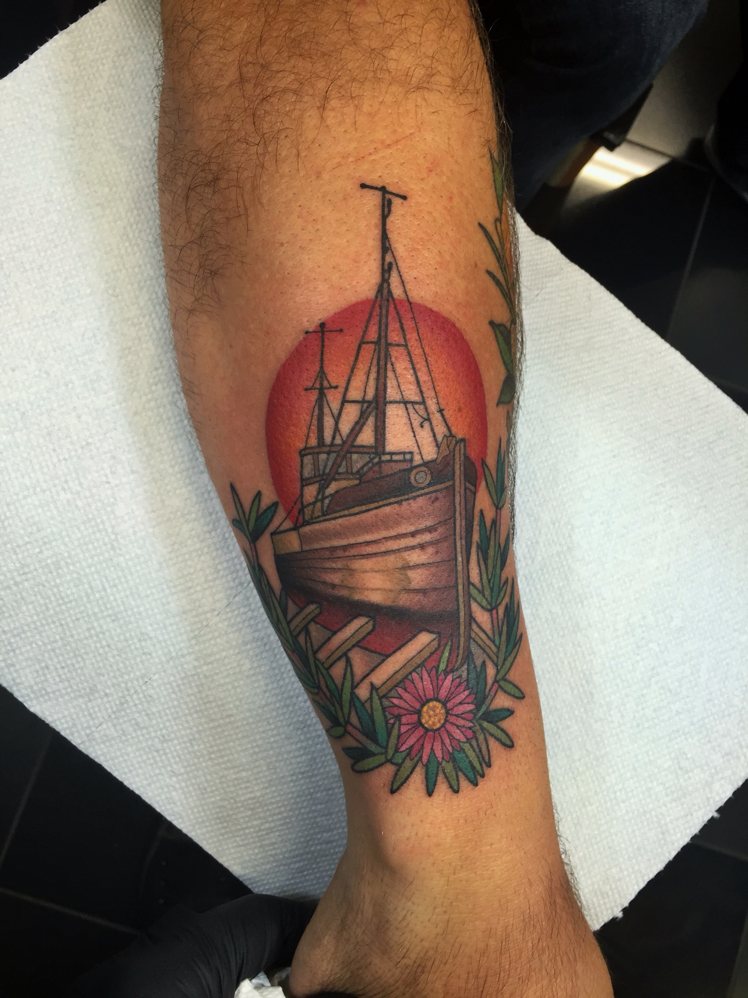 Color Ship Tattoo