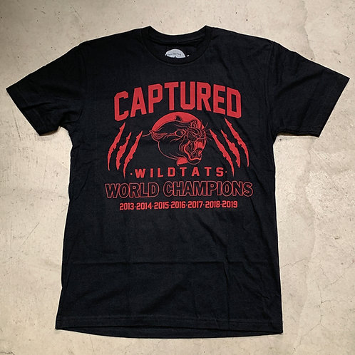 Black Captured World Champions T-Shirt