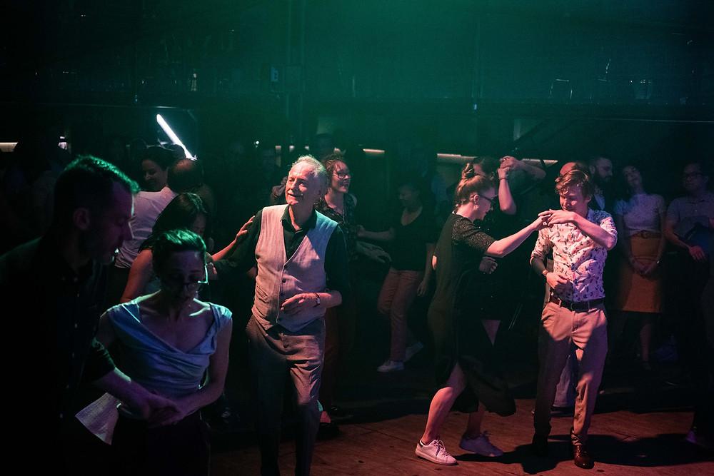 Swing dancers on the dance floor of The Rechabite