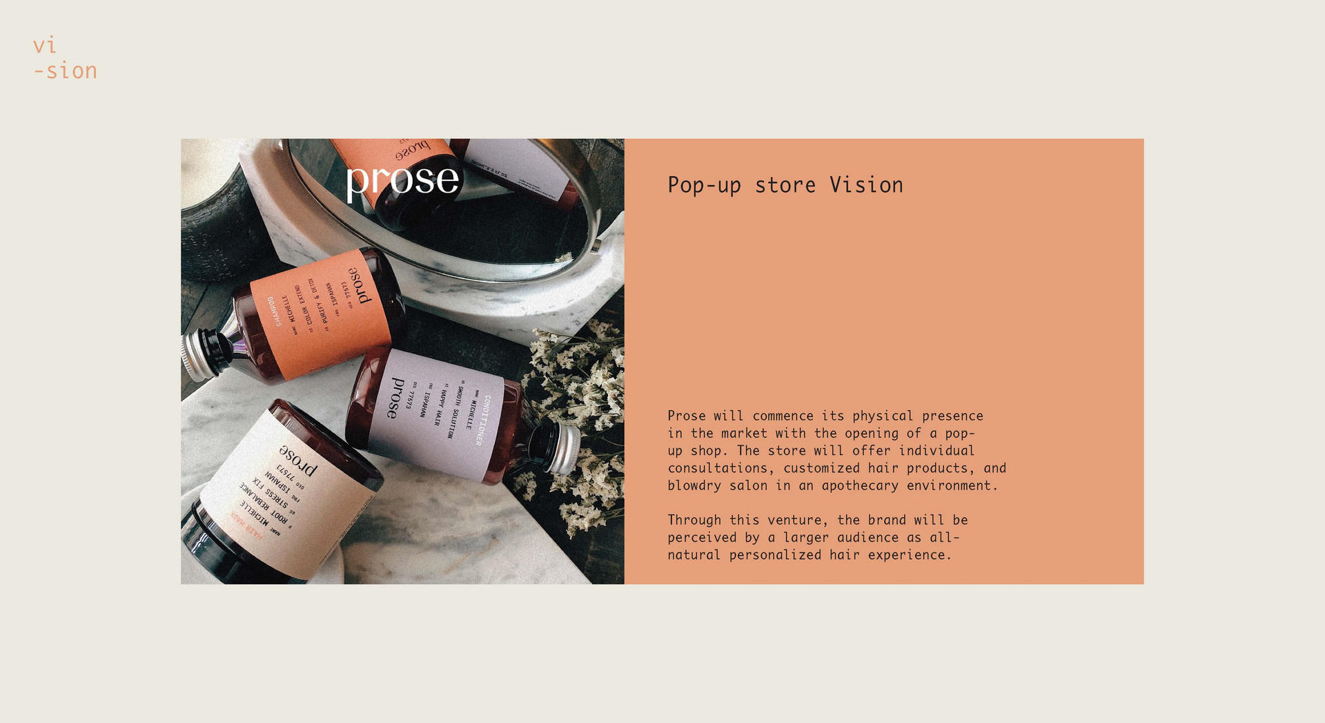 Prose Pop-Up Store Concept