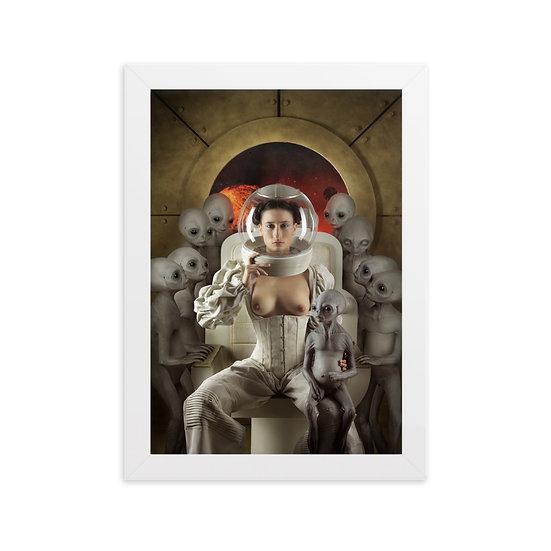 Framed matte paper poster | SM _ Madonna of space I
