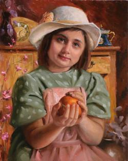 Orange Girl 16 x 20