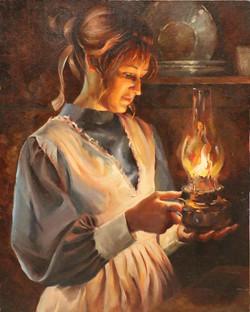 Her lantern