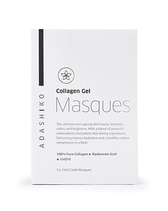Collagen Gel Cloth Face Masque (Box of 5) - Adashiko